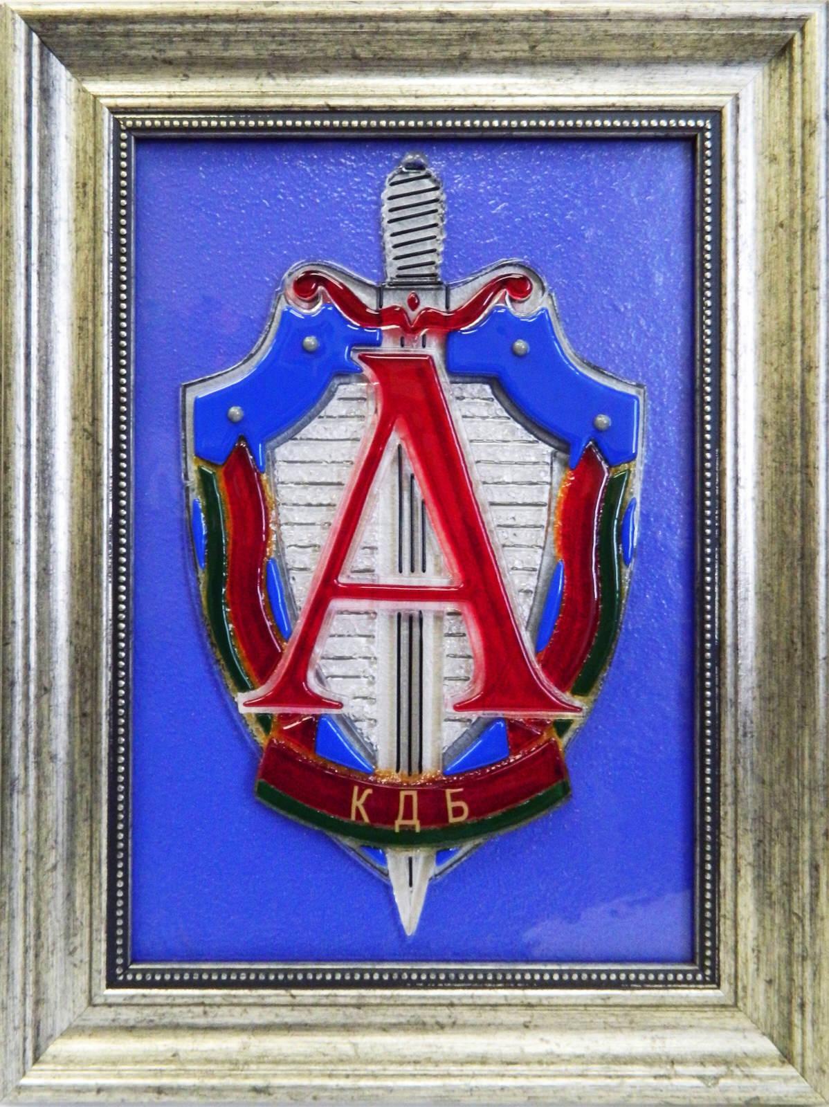 Картина из стекла Герб Группы «Альфа» КГБ Республики Беларусь