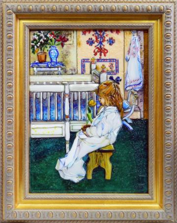 Карл Ларссон — Лизбет с желтым тюльпаном