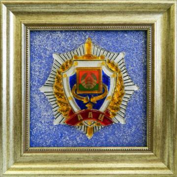 картина из стекла Герб Оперативно-аналитического центра при Президенте Республики Беларусь