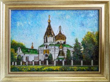 Картина из стекла Храм равноапостольной Марии Магдалины в Минске