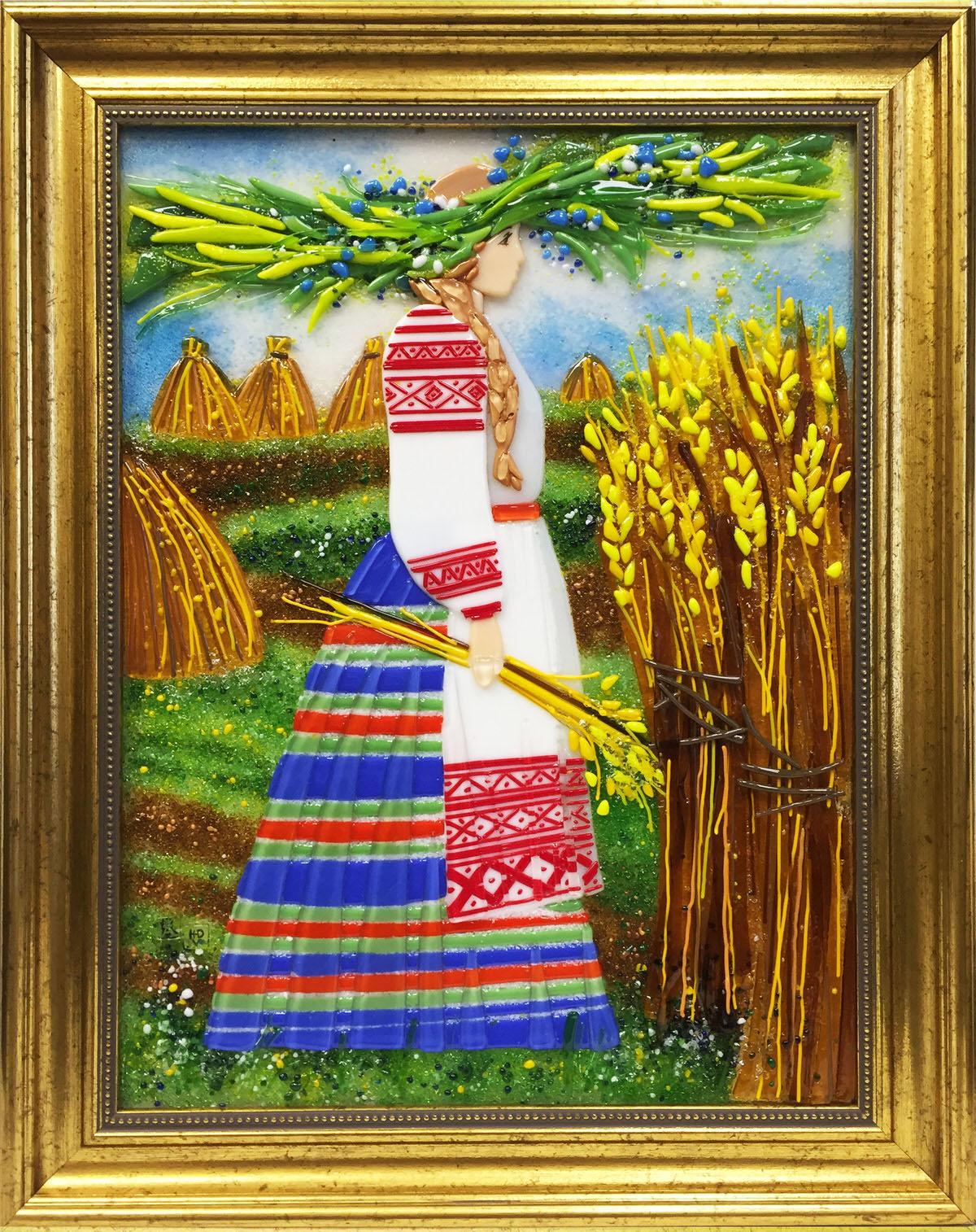 Картина из стекла белорусский сувенир купалинка