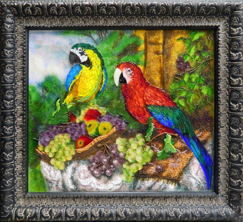 Натюрморт с попугаями