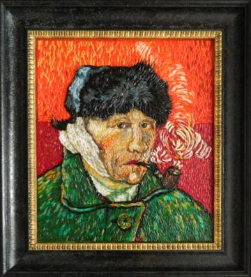 Винсент Ван Гог - Автопортрет с отрезанным ухом и трубкой
