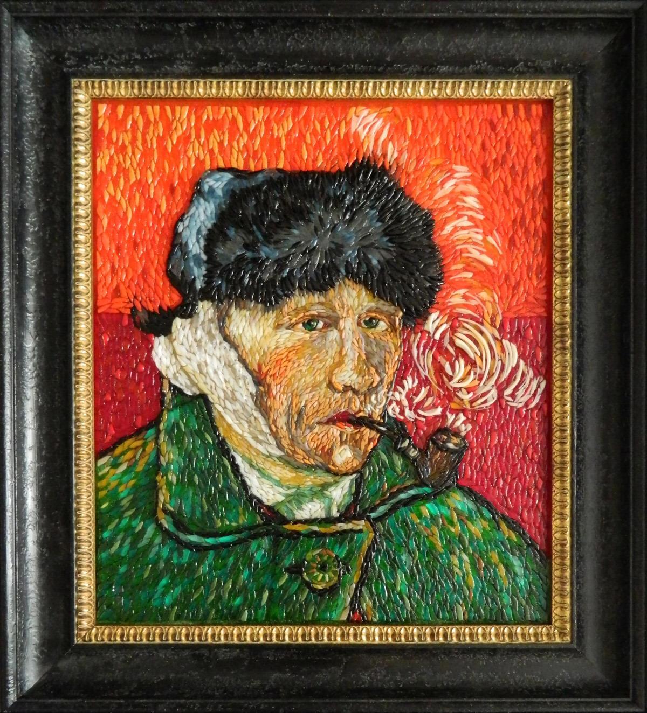 Винсент Ван Гог — Автопортрет с отрезанным ухом и трубкой