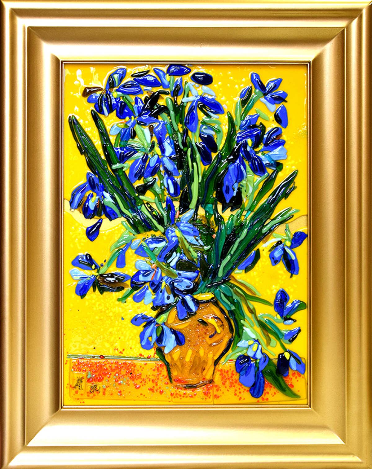 Винсент Ван Гог — Ваза с ирисами на желтом фоне