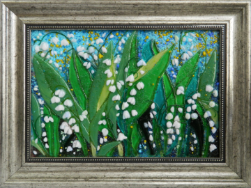 Картина из стекла ландыши