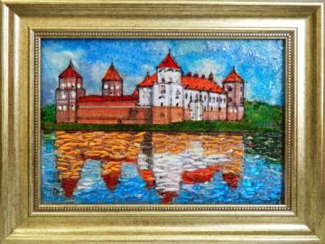 Картина из стекла мирский замок