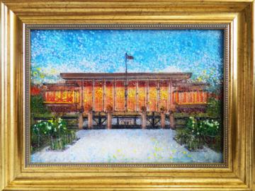 Картина из стекла дворец независимости беларусь