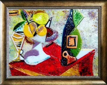 Пабло Пикассо - Натюрморт с бутылкой