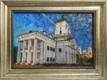 Картина из стекла ратуша минск