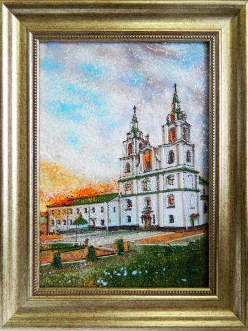 Картина из стекла Кафедральный собор Сошествия Святого Духа