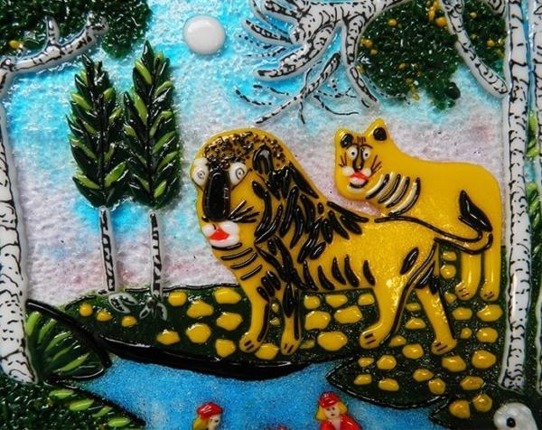 Картина из стекла Маляваны дыван Алены Киш