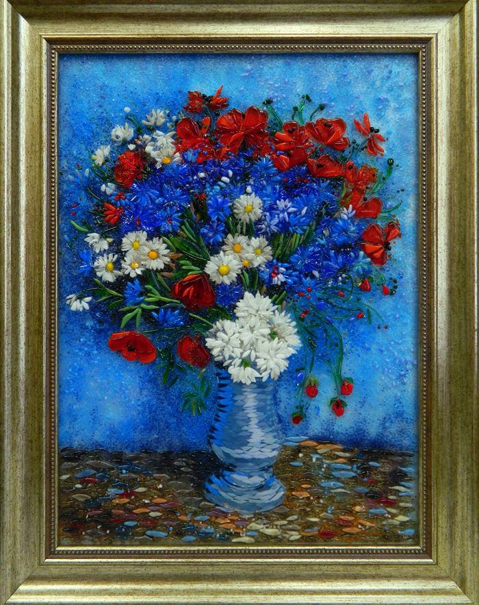 Винсент Ван Гог — Ваза с маками и васильками