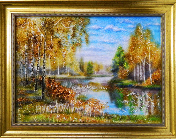 Осенний пейзаж с березами
