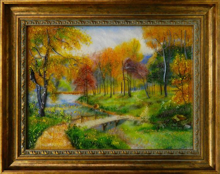 Осенний пейзаж с мосиком