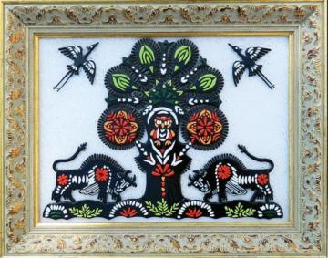 белорусский сувенир картина из стекла вытинанкаnanka (1)