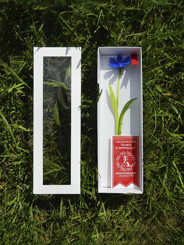 цветок из стекла василек оригинальный подарок