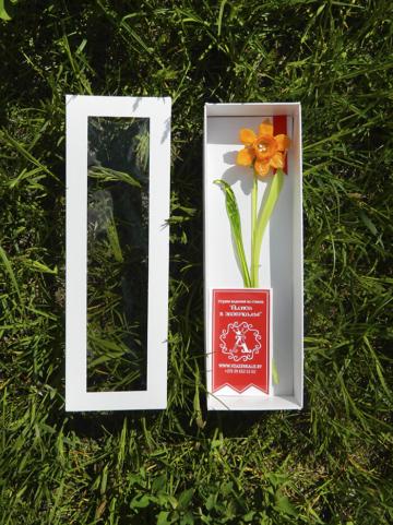 цветок из стекла нарцисс оригинальный подарок