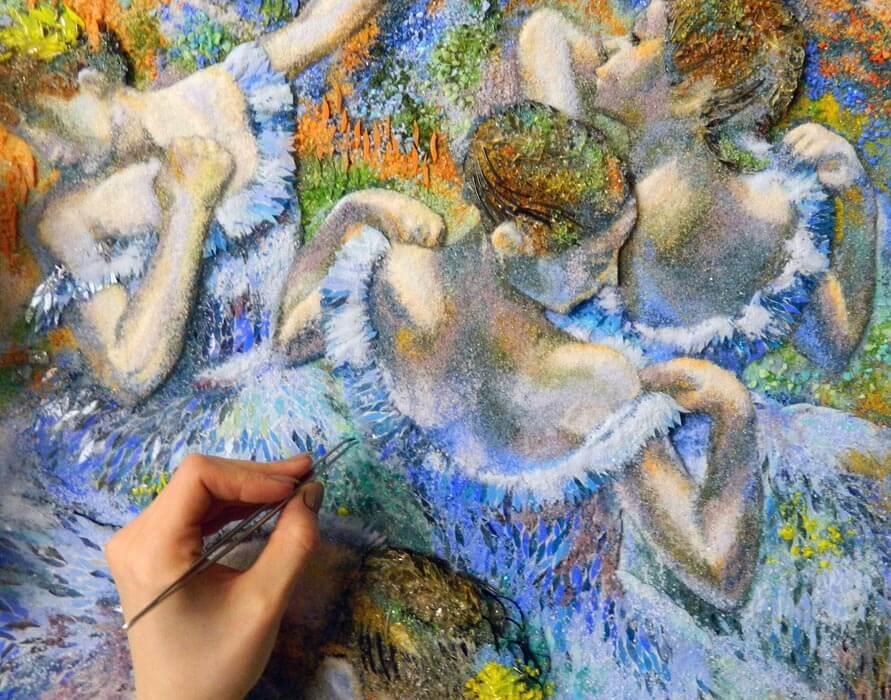 картина из стекла эдгар дега голубые танцовщицы