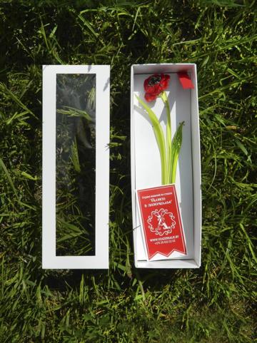 цветок из стекла мак оригинальный подарок