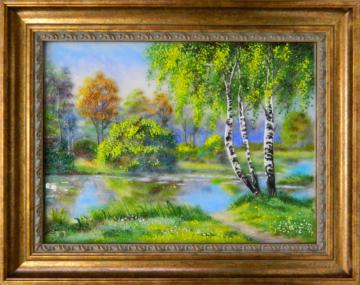 Пейзаж с березками