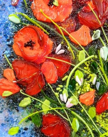 Картина из стекла Ван Гог Ваза с маками