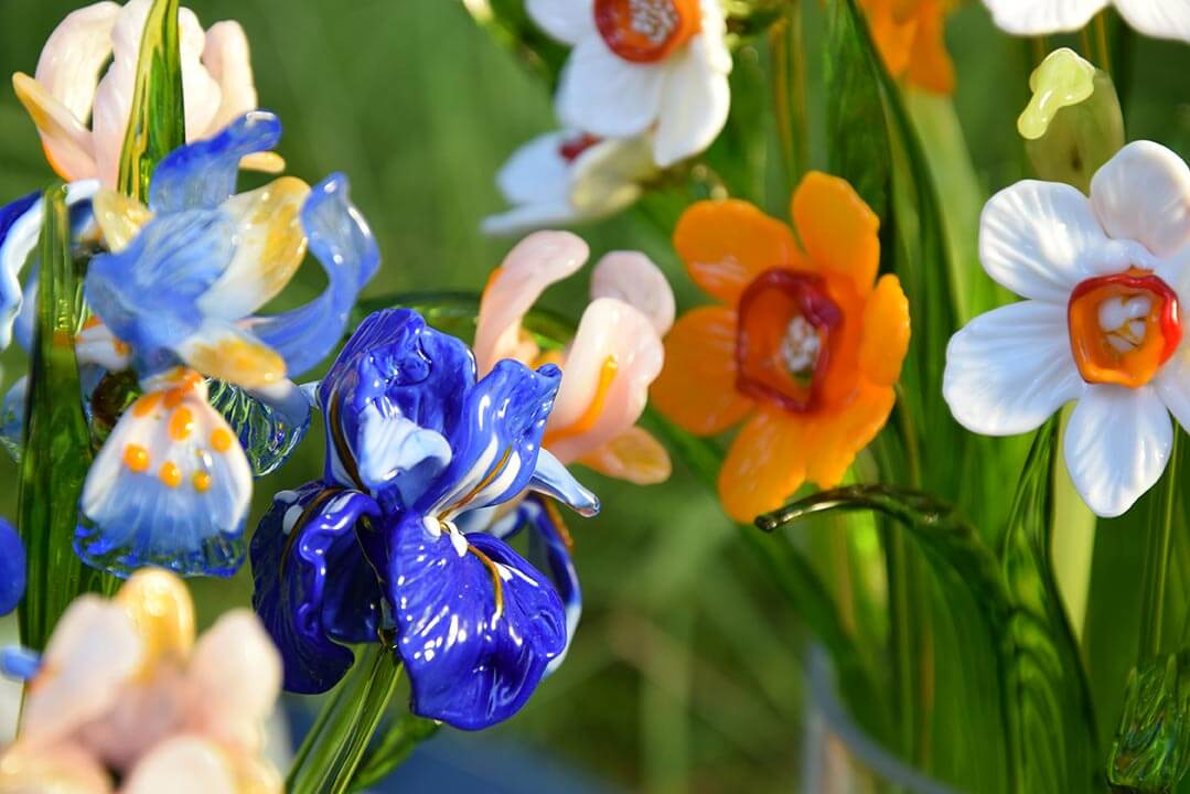 белорусский сувенир стеклянные цветы оригинальный подарок