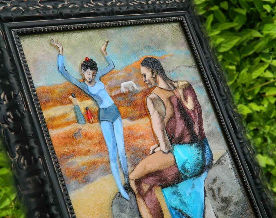 Картина из стекла репродукция Пабло Пикассо Девочка на шаре