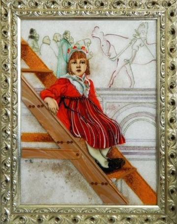 Картина из стекла Карл Ларссон - Барбро
