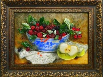Картина из стекла ягодный натюрморт лучший подарок
