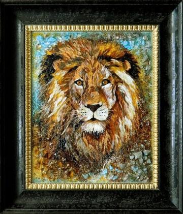 Картина из стекла Лев купить в Минске лучший подарок