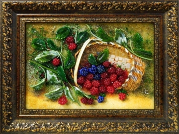 Картина из стекла корзина ягод лучший подарок