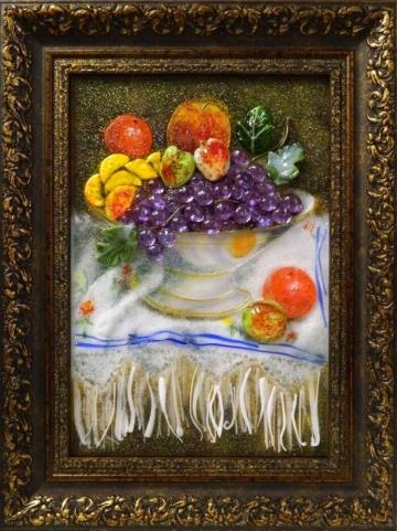 Картина из стекла ваза фруктов лучший подарок
