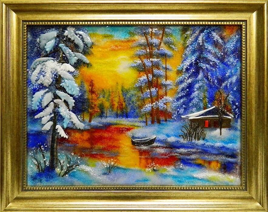 Пейзаж «Огненная зима»