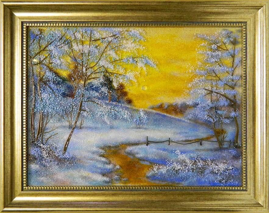 Пейзаж «Ледяная речка»