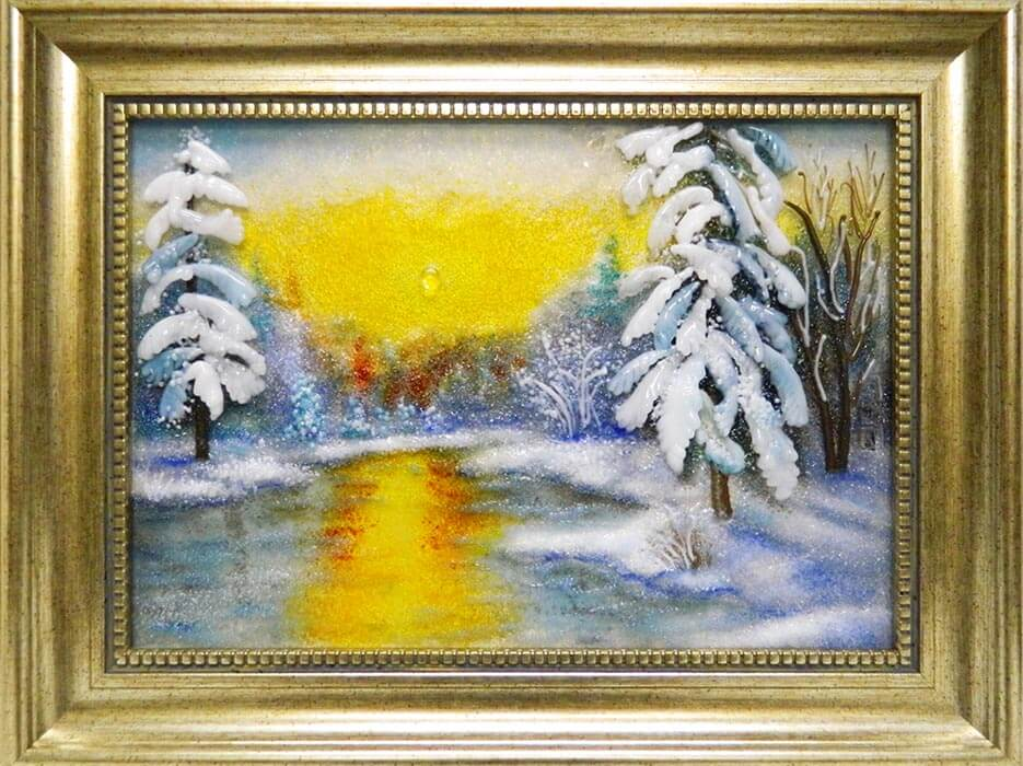 «Зимнее утро в лесу»