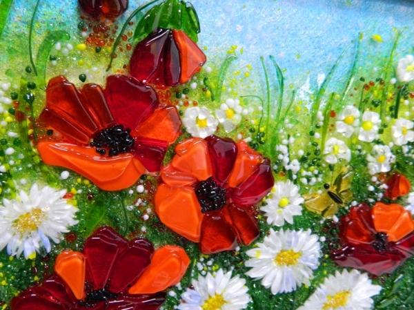 Картина из стекла «Цветочный полдень»