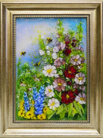 Картина из стекла «Цветение»