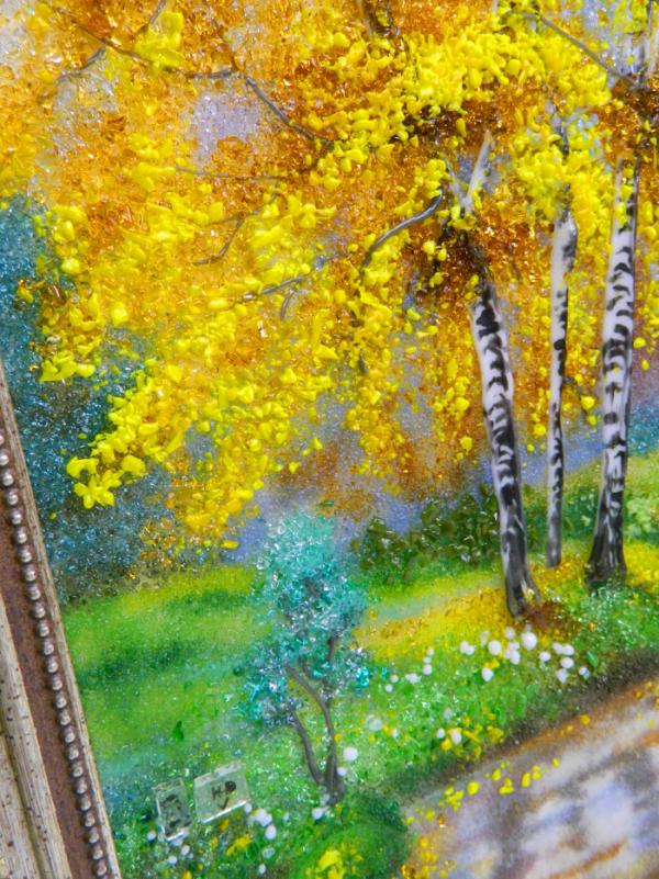 Картина из стекла «Березки»