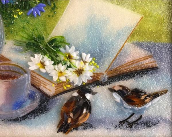 Картина из стекла «Утренний натюрморт»