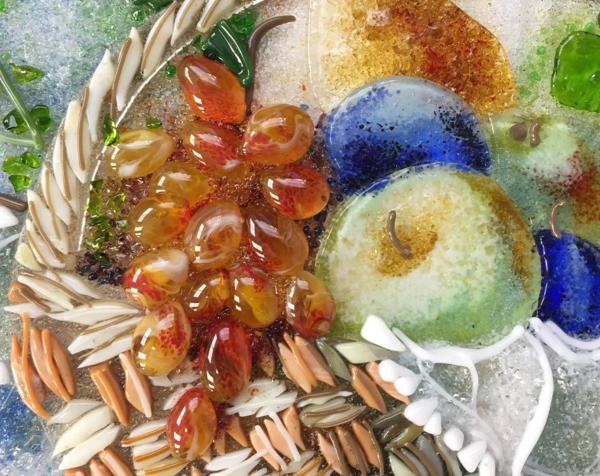 Картина из стекла «Натюрморт. Корзина фруктов»