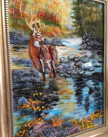 Картина из стекла «На водопое»