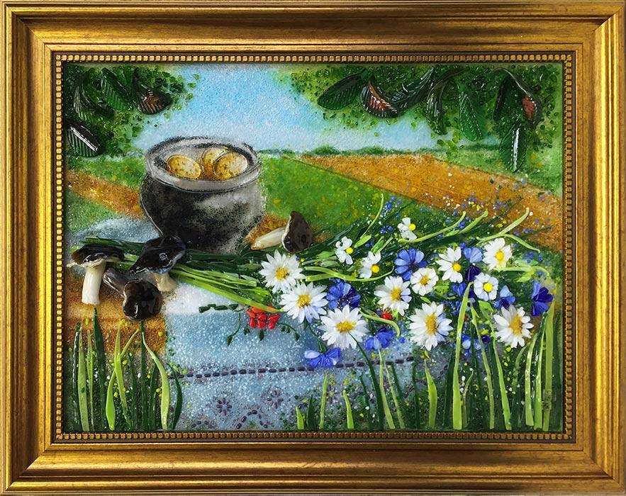 Картина из стекла «Натюрморт. Дожинки»