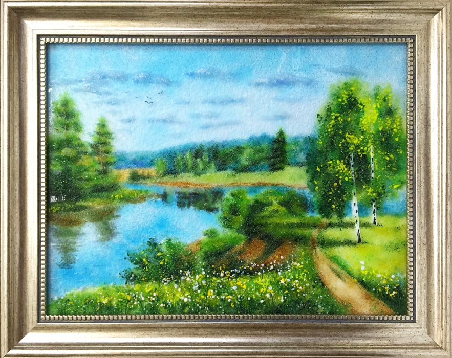 Картина из стекла «Пейзаж. У обрыва»