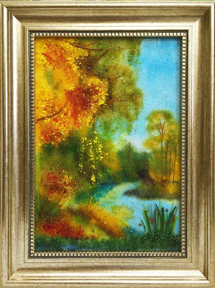 Картина из стекла «Цветное лето»