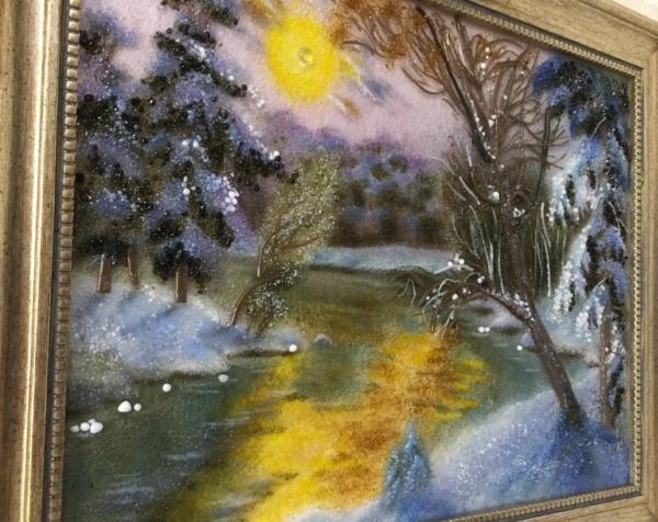 Картина из стекла «Пейзаж. Долгая зима»
