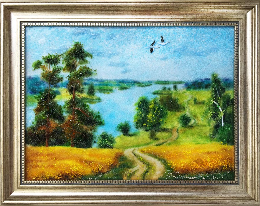 Картина из стекла «Ржаное поле»