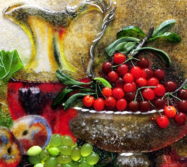 Картина из стекла «Натюрморт с фрукрами»