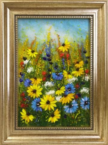 Картина из стекла «Полевые цветы»