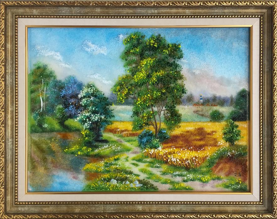 Картина из стекла «Пейзаж»